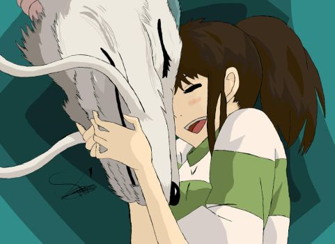 Spirited away Colored by Stades-Drawing