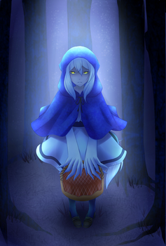 Little Blue Riding Hood by LacieBernkastel