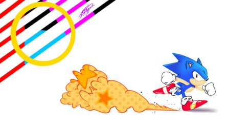 Sonic the Wallpaper by L09266