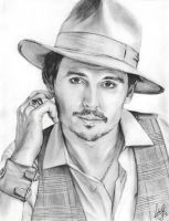 Portrait of Johnny Depp by twilight-girl22