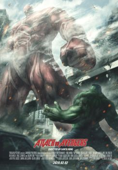 Attack on Avengers by SantaFung