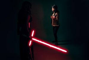 Fem Kylo vs Fem Finn 2 by beckyalbright