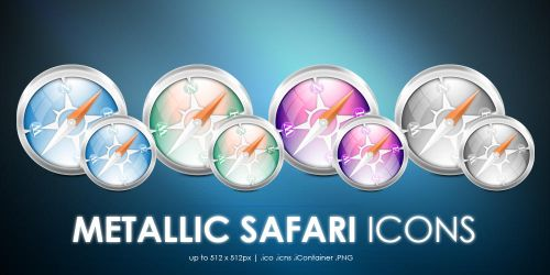 Metallic Safari icons by MDGraphs