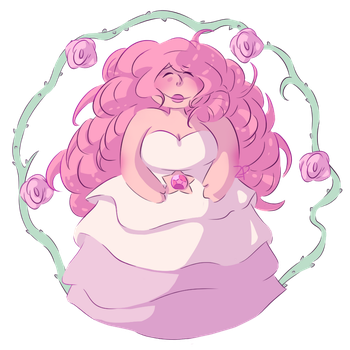 Rose Quartz Sticker by CandyClouds22
