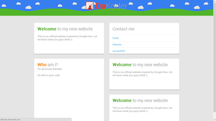 Google Now Inspired Website Design - HTML and CSS by DaKoder