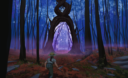 Portal in the woods by M-Whistler
