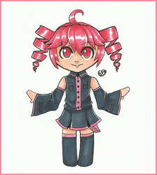 UTAU | Kasane Teto | Inktober Day 11 by SpanishPandaHero