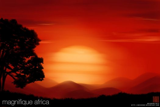 African Sunset by Grishend