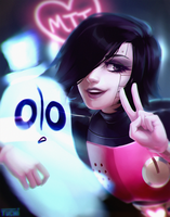 Mettaton and Napstablook by TheTuchi