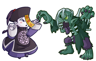 Ghostrick: Jiangshi and Ghoul by DrCrafty