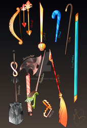 Weapons by AriaKey