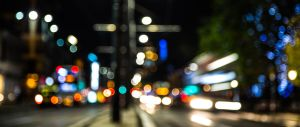 Edinburgh Princess Street in Bokeh by BusterBrownBB