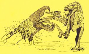 Graboid vs Nanotyrannus by XenoTeeth3