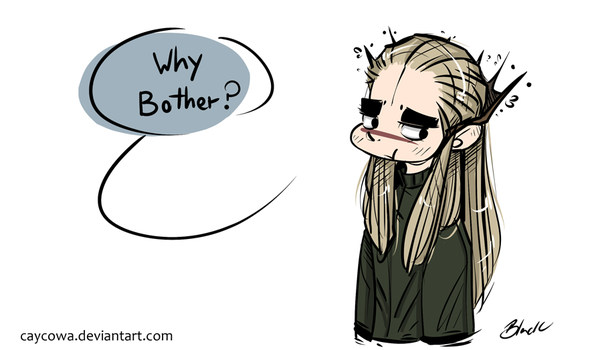 Hobbit - Thranduil - Why bother? by caycowa