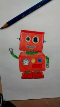 A little robot picture by burilka