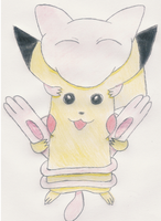 Pikachu and Mew by 1Meh1