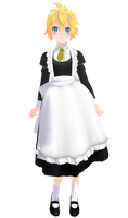 Tda Lenka Kagamine Maid of Evil(or just maid) [DL] by xXMofuMofuXx