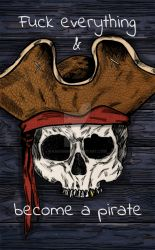 Pirate skull by kasumi96