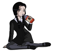 wednesday addams by darkkeferas