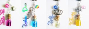 MLP: FiM - Bottled Ponies - keychains by FrozenNote