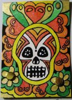 Sugar Skull ATC by mintdawn