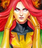 Jean Grey Phoenix Portrait by WeijiC
