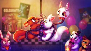 Stop Fighting! (FNAF Fanart) by Neytirix