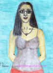 Colored Pencil Self-Portrait by Bearie23