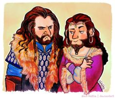 Thorin and Dis by Mad-Hattie