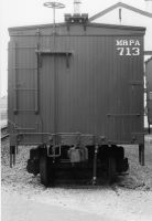 Ma and Pa Wooden Boxcar, end view by PRR8157