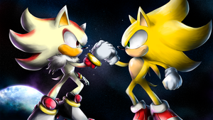 Sonic and Shadow by nintendo-jr
