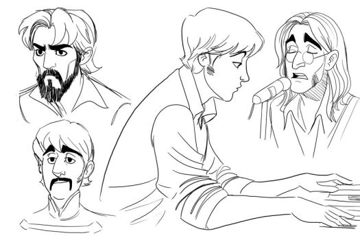 Beatles Sketches by TitanicGal1912