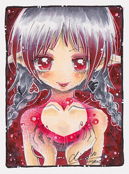 ::Blood Red Valentine ACEO:: by oliko