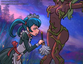Sophie and Dryad by StickyScribbles