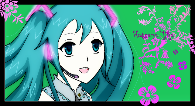 Hatsune Miku doodle - remake by 1Hp