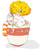 cup noodles by kittensurgery