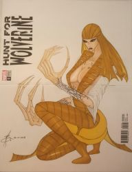 Hunt for Wolverine Blank Cover Art by junhb74