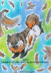 ACEO - I'm flying! by Shadow-of-the-Wolves