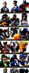 Batman: The Legend cards by eisu