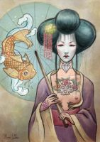 Geisha Old School by zetsubou-akane
