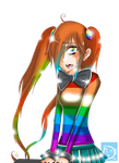 Wandy Sad Rainbow Girl by CaptainHaha