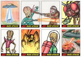 Heritage Mars Attacks! Sketch Cards - 10 by Monster-Man-08
