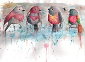 Line Up of Robins by L0C0CH0C0B0