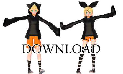 Kagamine Rin and Len Black cat TDA [DL] by Kurusou