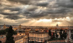 Roman View HDR I by VeryBadGirl