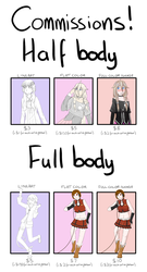 Commissions Open! (PayPal) by Fuzzyflanks