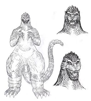Godzilla Model Sheet by arthawk