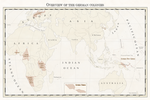 German colonies overview by Arminius1871