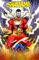 Shazam Captain Marvel Pencil, Inks and Color by highcreator1