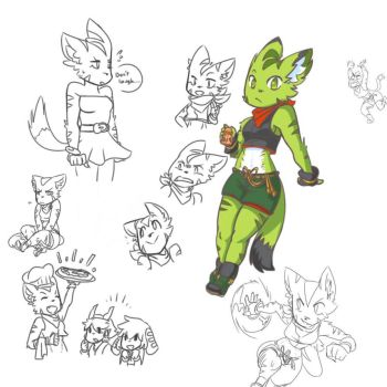 Buncha Green Cats by LapistheGardevoir